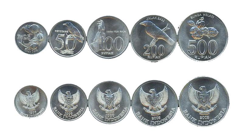 Монеты индонезийские рупии. Деньги на Бали.