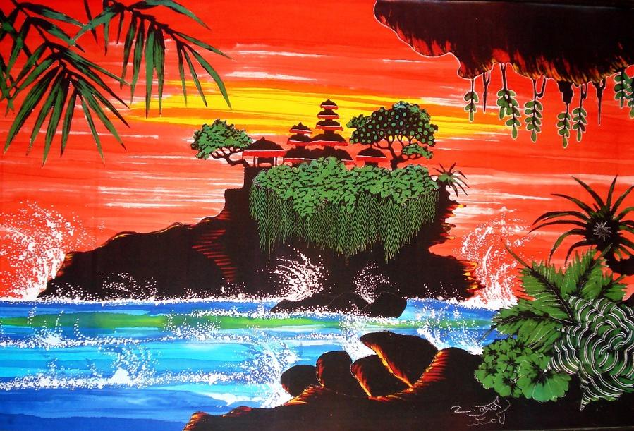 Многие туристы привозят с Бали картины местных художников.